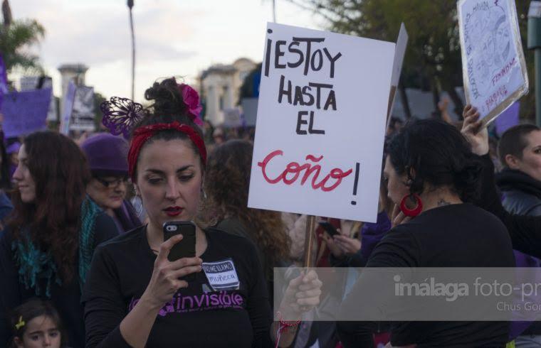 Resultado de imagen de Manifestacion Feminista en Malaga. 26 Abril 2018